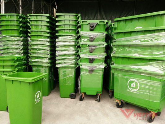 thùng rác 120 lít nhựa Việt Tiến