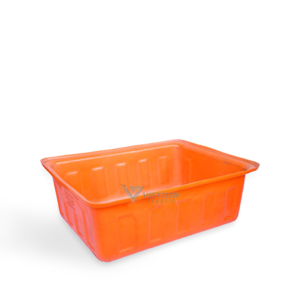 thùng nhựa chữ nhật 100 màu cam