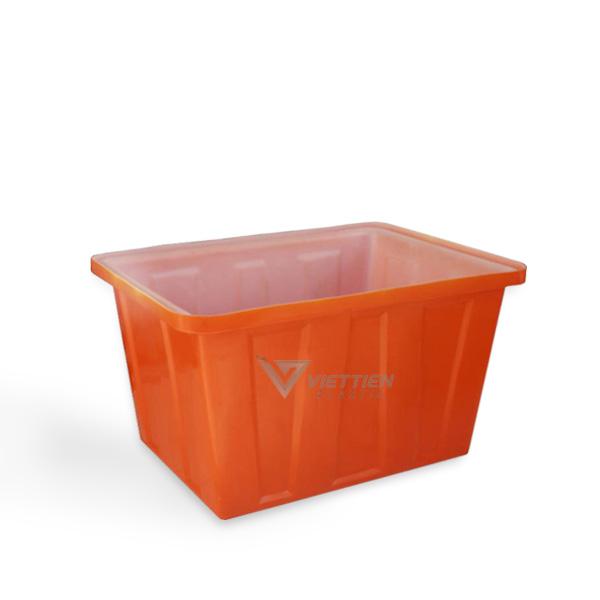 thùng nhựa chữ nhật 500 lít