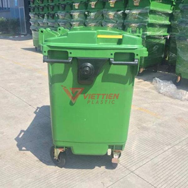 Thùng rác nhựa 660 lít HDPE giá rẻ