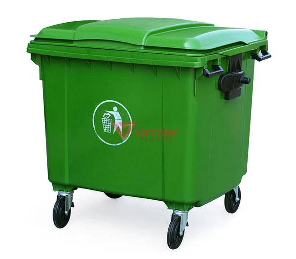 Thùng rác 660 lít HDPE