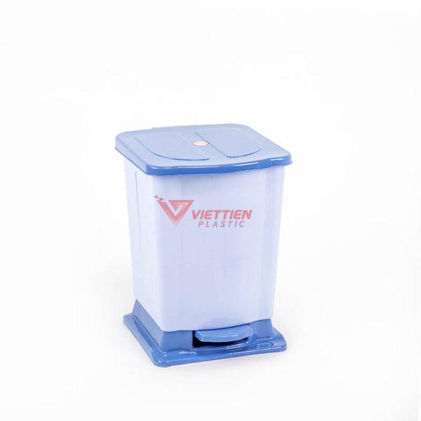 thùng rác 12 lít đạp chân xanh dương