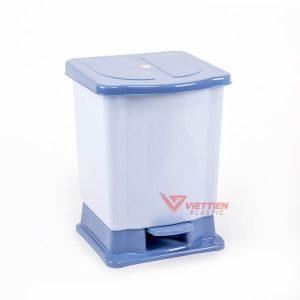 thùng rác 20 lít đạp chân màu xanh
