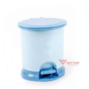 thùng rác 20.5 lít tròn xanh dương