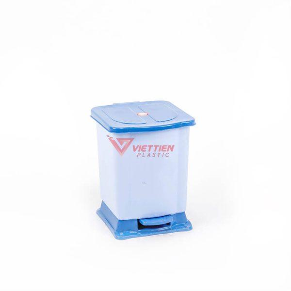 thùng rác 7 lít đạp chân xanh duong
