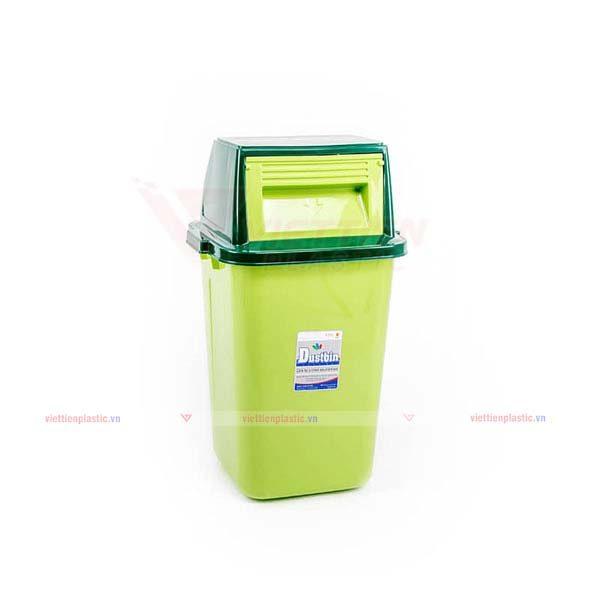 Thùng rác nắp lật lớn màu lá