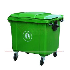 Thùng rác 660 lít nhựa HDPE