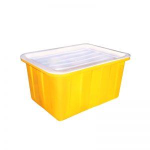 Thùng nhựa chữ nhật 50 lít màu vàng