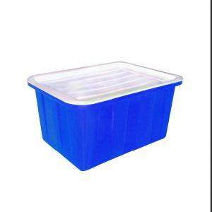 Thùng nhựa chữ nhật 50 lít xanh dương