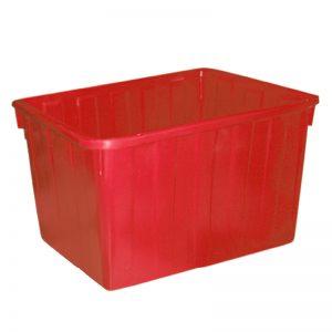 Thùng nhựa chữ nhật 160 lít màu đỏ