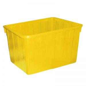 Thùng nhựa chữ nhật 160 lít màu vàng