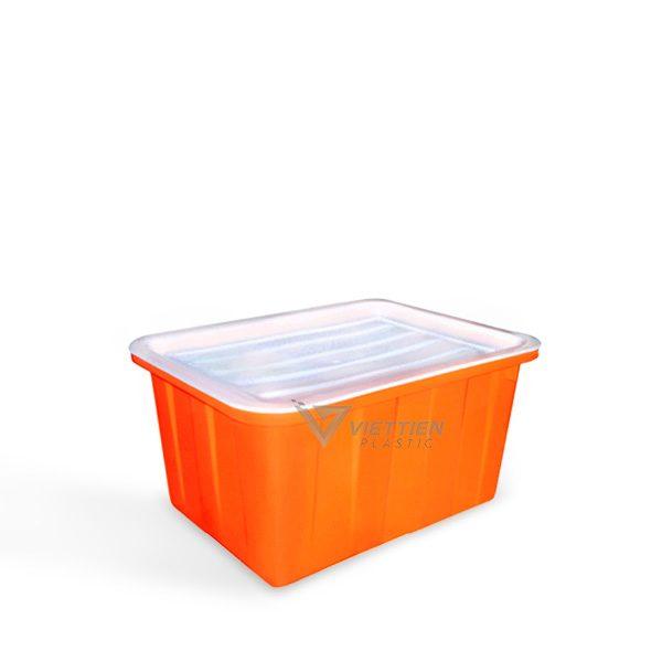 thùng nhựa chữ nhật 50l có nắp