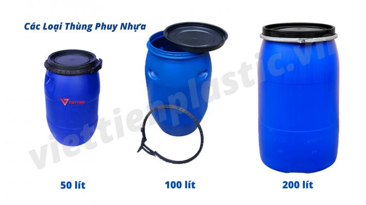 3 Loại thùng phuy nhựa phổ biến