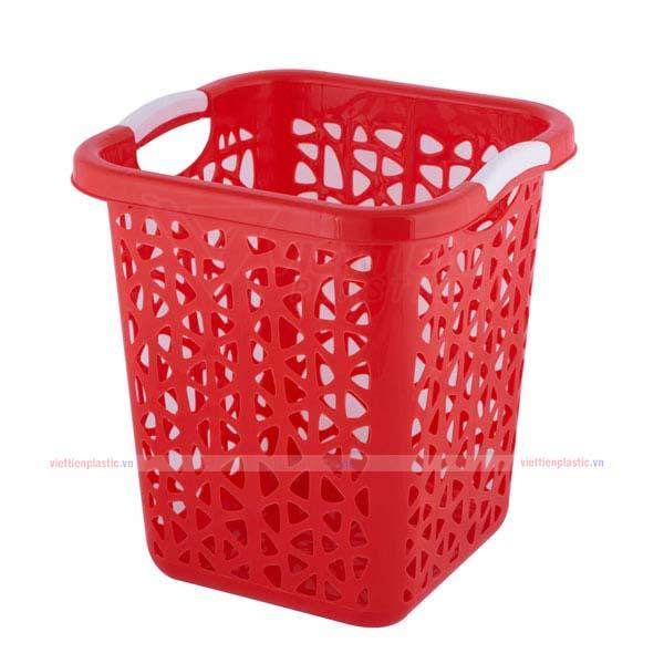 Sọt rác vuông đại - đỏ