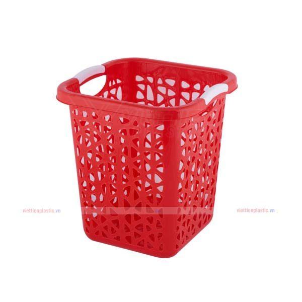 Sọt rác vuông lớn - đỏ