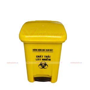 Thùng rác y tế đạp chân 15 lít màu vàng