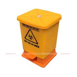thùng rác đạp chân 20 lít - vàng