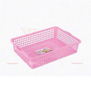 rổ-chữ-nhật-3t0-màu-hồng
