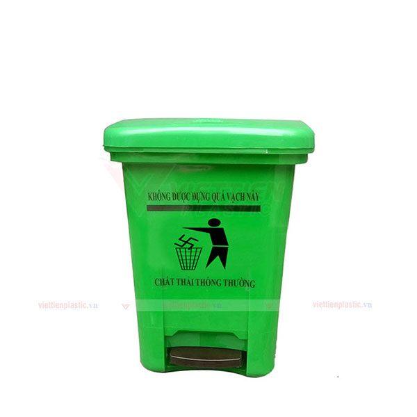 Thùng rác 15 lít màu xanh lá