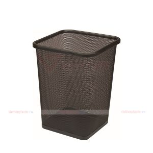 Sọt rác vuông inox màu đen