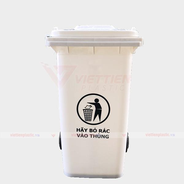 Thùng rác nhựa màu trắng