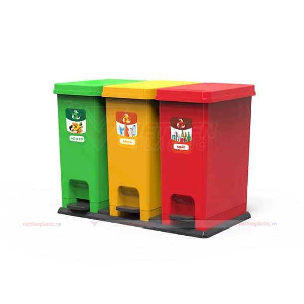 Thùng đựng rác 3 ngăn