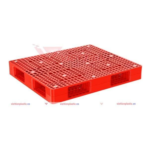 pallet nhua pl1290lk - đỏ