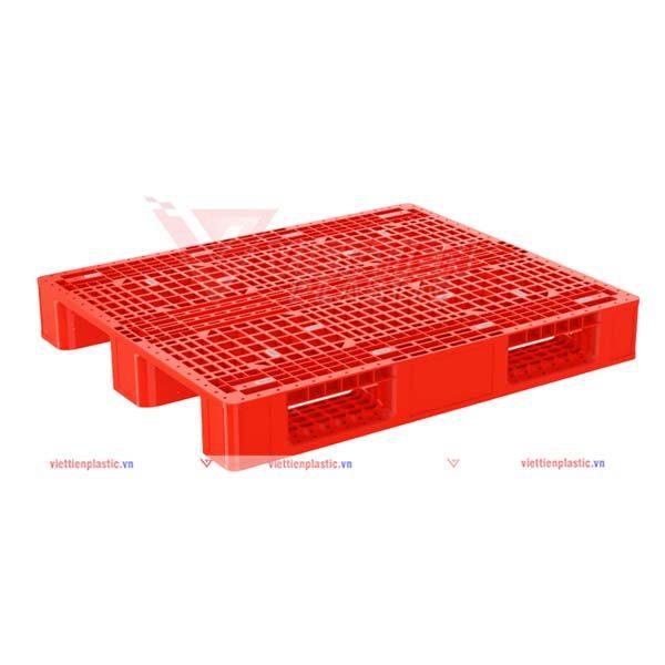 pallet nhựa pl1345lk - đỏ