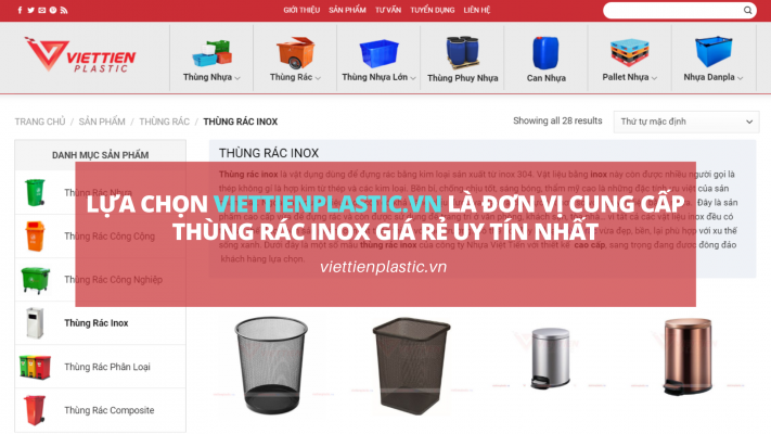 Đơn vị cung cấp thùng rác inox giá rẻ uy tín nhất
