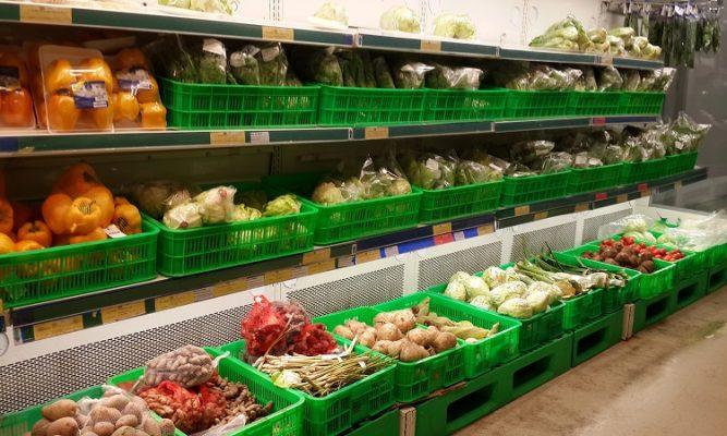 Sóng nhựa đựng trái cây, rau củ