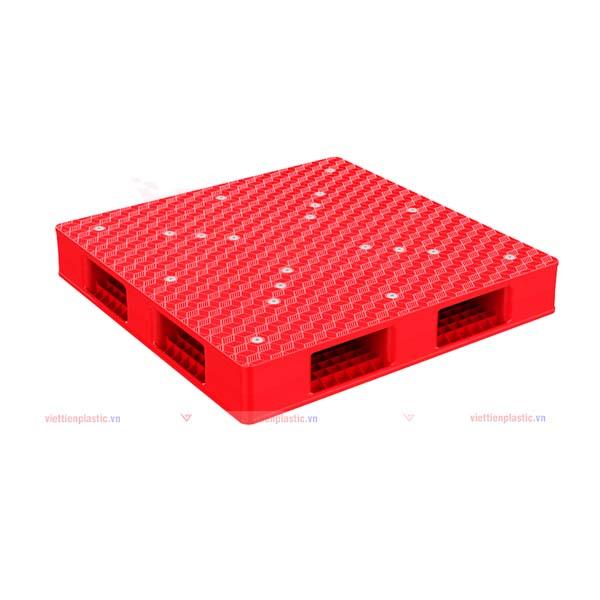 pallet nhựa pl 1277lk - đỏ
